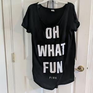 "Victoria Secret ""Oh What Fun"" Long Tunic/Shirt L"